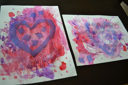 heart resist painting valentine